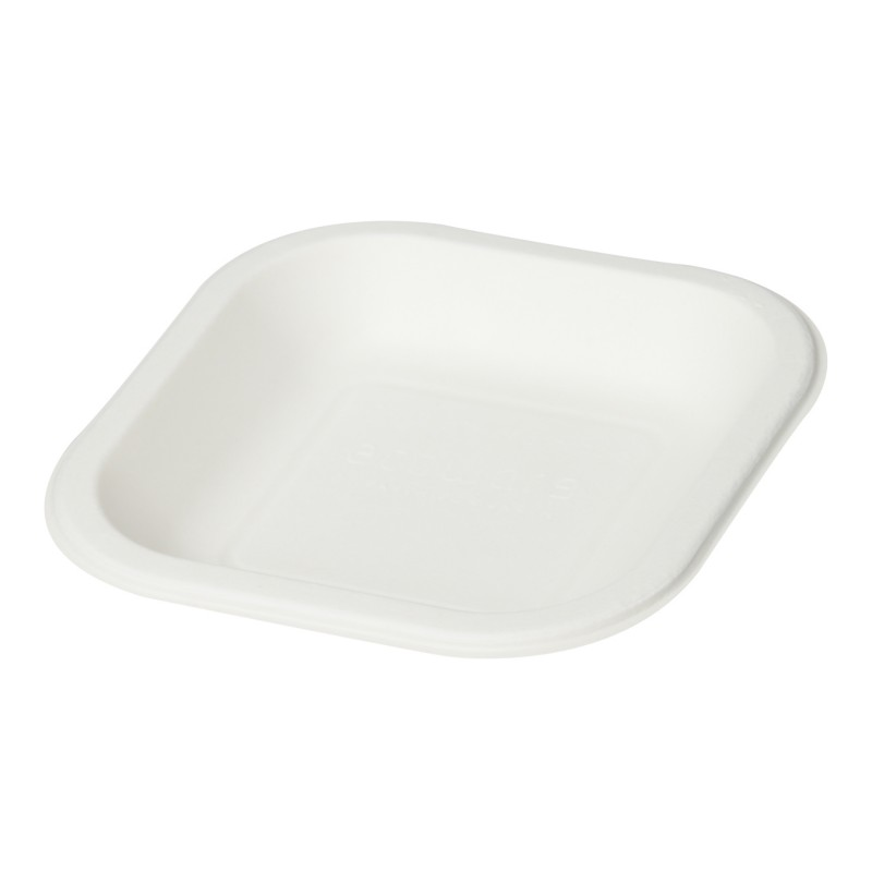 """Square Plate 6"""" - (Pack of 25 Pieces)"""